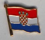 Croatia Country Flag Enamel Pin Badge